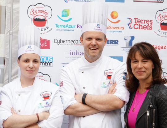 Anaïs Dutilleul, Christophe Degeilh et Delphine Bürkli (Maire du 9e arrondissement de Paris)