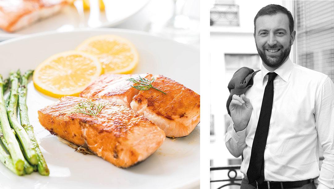 Plat de saumon aux asperges recommandé par le nutritioniste Pascal Nourtier
