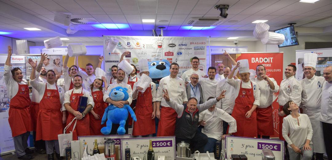"""4ème édition du Concours National Maîtres Restaurateurs  """"Le Panier Mystère"""" à Institut Le Cordon Bleu Paris remporté par Julien MEDARD - L'ardoise du Marché, Boulleret (18)"""